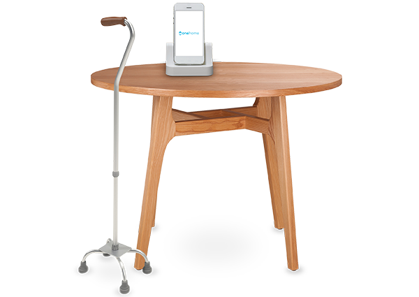 table with phone