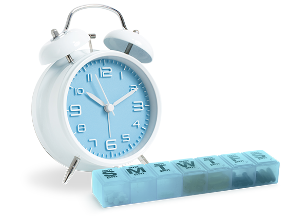 clock with medication